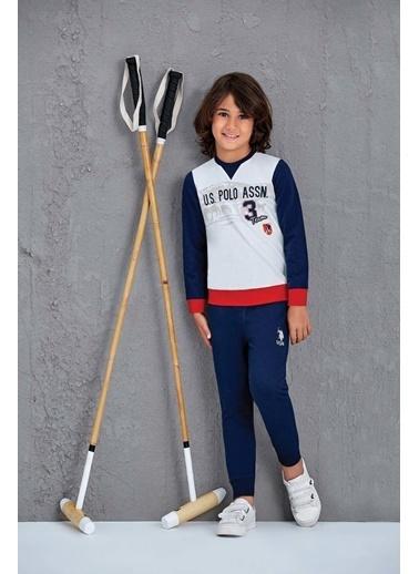 U.S. Polo Assn. Erkek Çocuk Eşofman Takımı Krem